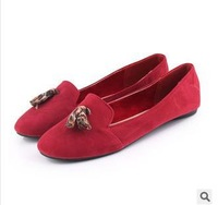 The new 2014 race romantic Sue head comfortable flat shoes 40 and 41 women's shoes