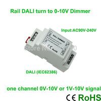 Brand New!!!High voltage AC90V-240V led DALI dimmer controller 1 channel 0V-10V or 1V-10V signal output ,5A