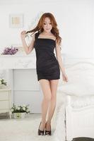 New 2015 Arrivals Sexy Black \ White  stretch one-piece dress The nightclub dress  hip ,Tight dress