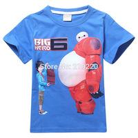 2015 boys Big hero child t shirt boys girls top t-shirt for kids baby summer cartoon children t shirt clothing free shipping
