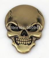 1pcs Car Motor Aluminium Alloy Fender Hood Trunk Skull Badge Emblem
