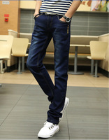 New Arrival Men Gentlemen Fashion Cotton Slim Straight Jeans Long Pants Drop Shipping