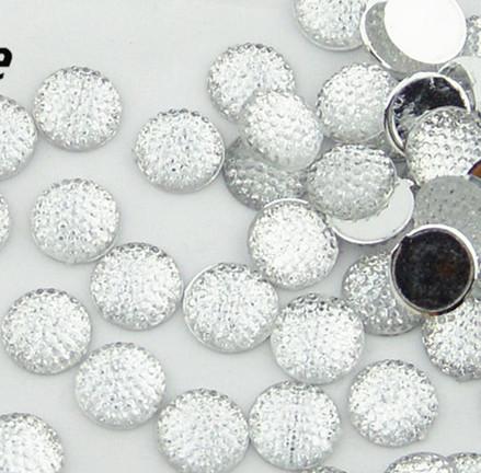 400pcs 12mm Transparent color cabochons Bling Round Rhinestones/Gems flat back embellishment resin /acrylic cab dotted crystal(China (Mainland))