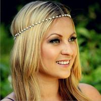 Women Head Jewelry Chain Headband Hair Band Headpiece Tassels Pearl
