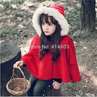 Joy Chang's girls winter warm thick christmas cloaks children's xmas costume 5pcs/lot