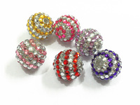 20mm 100pcs/lot Mixed Valentine's Day Stripe Resin Rhinestone Beads