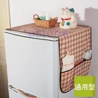 Free Shipping 1pc super practical Fridge Lattice Refrigerator Dust Proof Cover Muti-use Pouch Organize Storage Bag