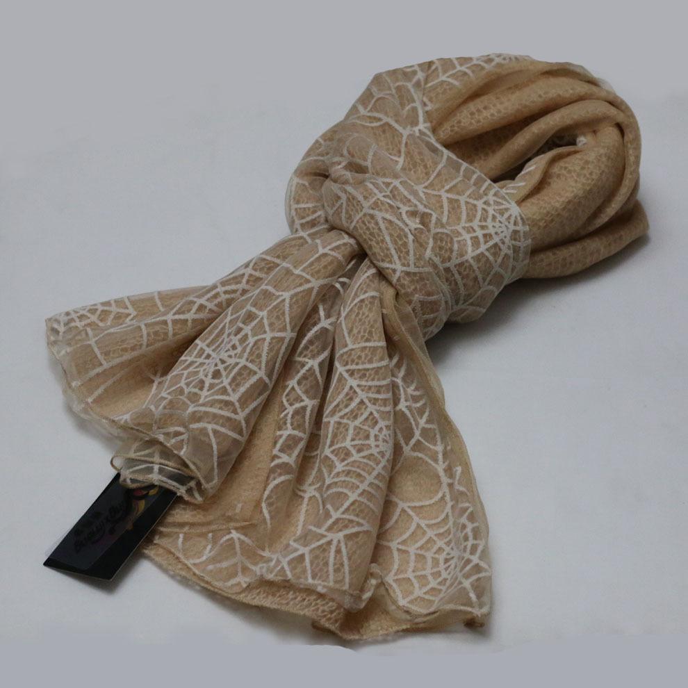 TANPER winter women scarf Khaki shawl ladies scarves spider web pattern bufandas fashion pashmina Rayon cape casual dress xale(China (Mainland))