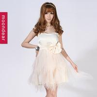 wholesale a-line strapless knee-length chiffon evening dress prom dress ,custom made