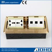 DCT-638/GB IP44 Brass Fast Pop Up Type Waterproof Floor Box