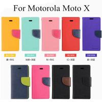 Mercury Wholesale For Motorola Moto X Wallet Phone Case Bag Flip Leather Covers DHL Retail Package