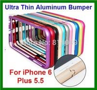50pcs/lot  Free Shipping Ultra Thin Aluminum Bumper Case for iPhone 6 Plus 5.5