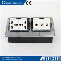 DCT-638/LBD IP44 Waterproof Aluminum Slow Pop Up Type Network Floor Box