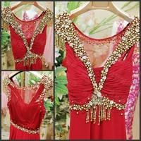 casual dress Luxury crystal bridesmaid dress formal dress toast the bride married formal dress evening dress