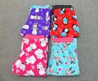 Free shipping Ms coral fleece pajamas and big yards long Johns warm female leisure cartoon household pants