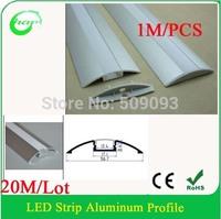 20M/Lot Floor profile LED Aluminium Extrusion for Floor, 1m/pcs LED Strip Aluminum Floor Profile