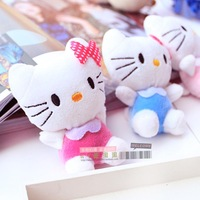 10pcs/lot mini bow HelloKitty plush doll for wedding gift  color rose red  blue and pink