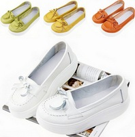Korean fashion shoes comfortable bow lady shook her wild heavy-bottomed muffin shoes flats for women size35-40 S1172