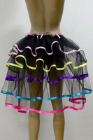 whole sale Sexy Layered Ruffle Mini Tutu Skirt Burlesque Petticoats Clubwear Dance Ball Gown S017
