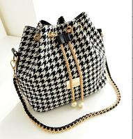 New 2015 Hot Canvas Bucket Bag Handbag Female Casual Canvas Shoulder Bag Cross- body Bags Women Messenger Bag Day Clutches HE68