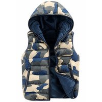 Fashion Mens Camouflage Vests Hooded Sleeveless Men Winter Vests Casual Sport Waistcoat Men Vest Wholesales Down Jacket A45