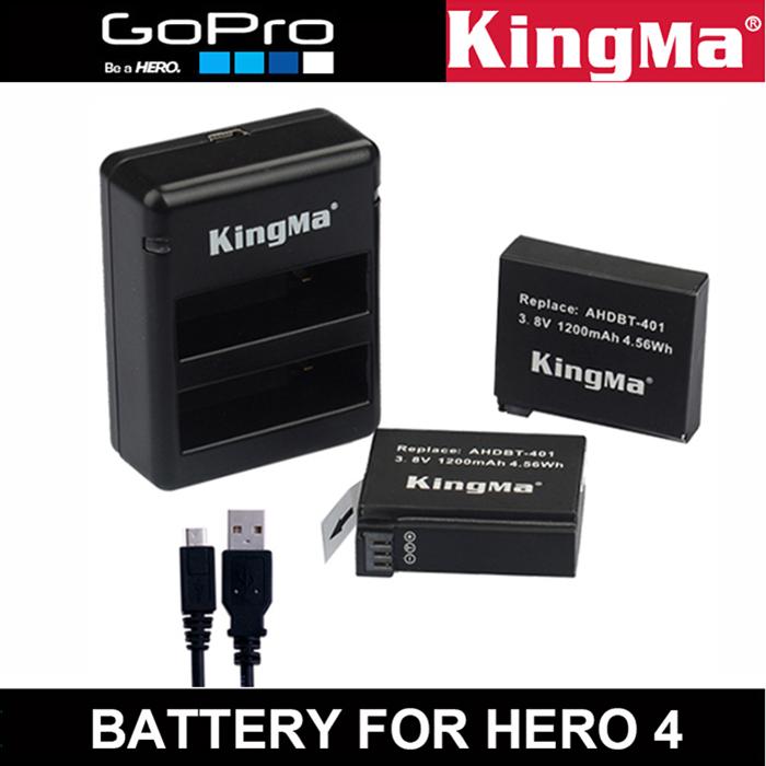 все цены на Аккумулятор для фотокамеры OEM Gopro Hero 4 2x1200mAh Go AHDBT/401 AHDBT401 AHDBT 401 Gopro Hero 4 онлайн