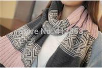 2015 Fashion Women Scarf Winter Coarse Bevel Wool Scarf Bohemia Super Warm Scarf Collar Lady Scarf 130