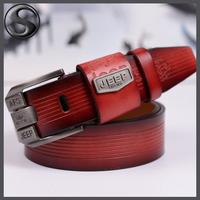 Drop Shipping Famous Brand Design Cowskin Leather Belt  Men's Belts Men 100% Cow Leather Belt Leisure Wainstband
