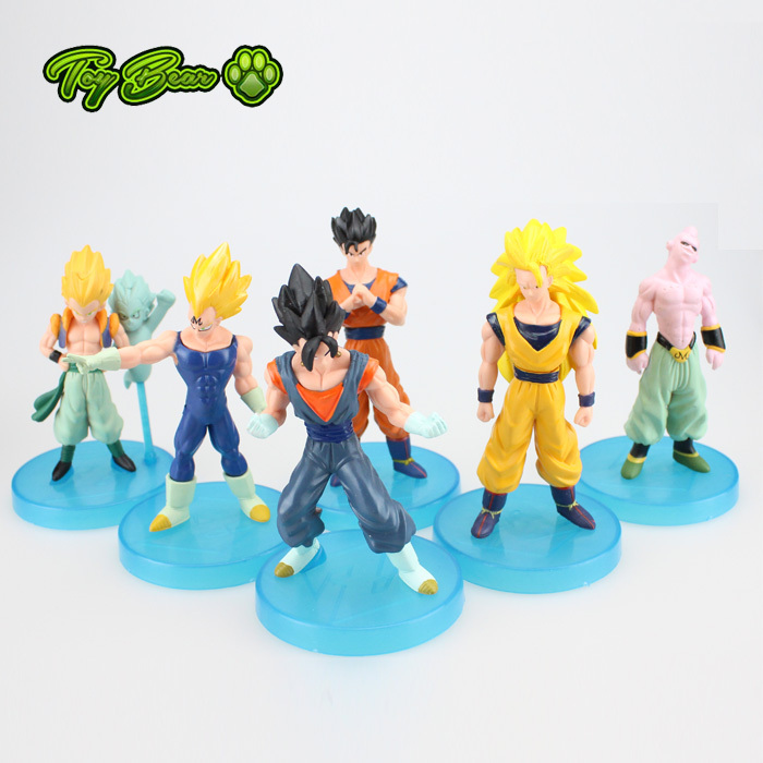 New 6pcs/lot 13cm Dragon Ball DBZ Anime Goku Majin Buu Goten Gohan super saiyan Joint Movable dragon ball z action figures Toy(China (Mainland))