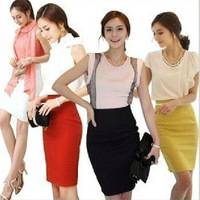 New skirts womens Spring & Autumn Women's Professional Solid High Waist Knee Length OL Slim Pencil Skirt Plus Size With Belt