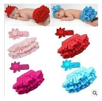 1 sets/lot 3 size 4 color choose free shiping baby children skirt+headband retail drop shipping hot sale