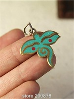 TBP799  Tibetan Golden Brass Buddha Eye Charms Turquoise Tibetan jewelry Wholesale
