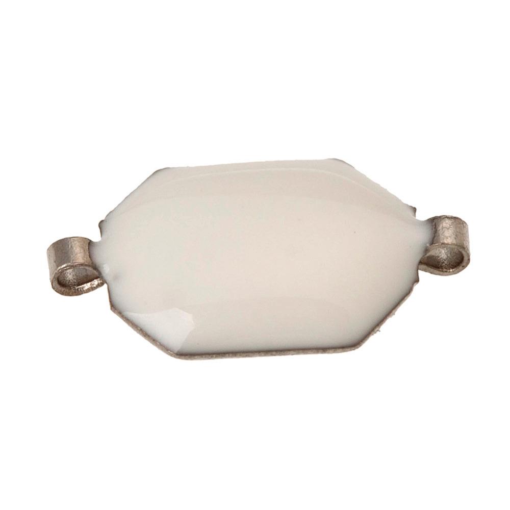 200pc White Hexagon Plastic Crystal Sew on Flatback Beads Embellishment R205(China (Mainland))