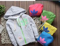 Retail Spring Autumn Kids Sweatshirts Children brand Hoodies Zipper Coat Jacket Baby Boys Girls Outerwear