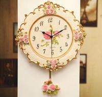 Fashion vintage rustic wall clock brief decoration watch fashion mute clock
