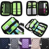EVA M Anti-shock Hard Drive Pouch Cable Organizer Bag For Earphone USB Flash Drive Memory Case