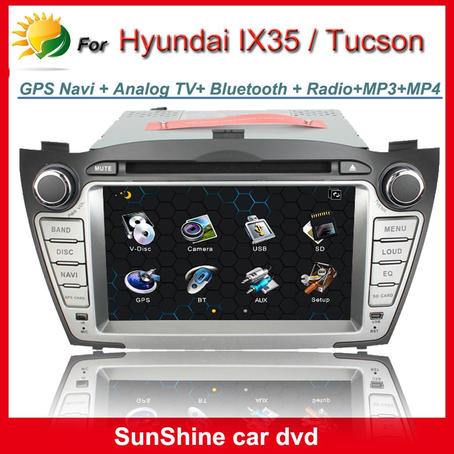 Touch screen car radio for Hyundai ix35 dvd gps navigation 2 din 7 inch touch screen car dvd player for Hyundai Tucson 2009~2012(China (Mainland))