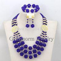 Luxury Dubai Gold Jewelry Set Crystal Beads Necklace Jewelry Set 2015 Chunky Bib Statement Necklace Set Free Shipping GS876