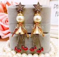 Moco-04 Bell Sisters Earrings Xmas Decorative Cute Earrings Goden Fashion Earrings for Woman
