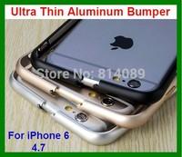 1pcs/lot Free Shipping Ultra Thin Aluminum Bumper Case for iPhone 6 4.7