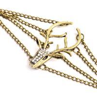 2014 New Fashion Hot Selling Fashion Vintage Men/Women/girl Bangle Bronze Mysterious Deer Rhinestone Bracelet