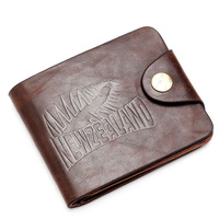 New Cool Men's wallets burned skin Leather Bifold Wallet Multi Pocket Credit Card and inner belt zero Purse carteira