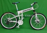 "26""x18"" inch aluminium hummer folding mountain bicycle,21 speed, disc brakes tall man folding bicycle bike"