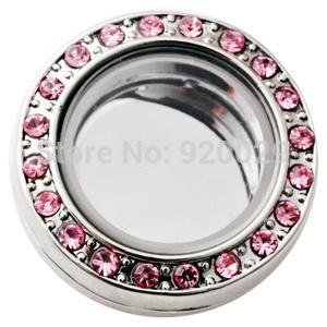 D02106 розовый оптовая продажа ювелирных изделий оснастки кнопку стеклянные плавающие ...