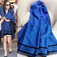 The New 2015 Autumn Winters Day Big Yang Mi In Same Imitation Cashmere Shawl Wholesale Navy Blue Wool Scarf A133