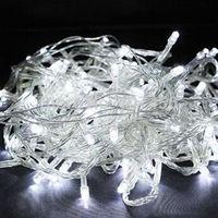 Holiday Outdoor 100pcs White LED String Lights 10M 220V 110V Christmas Xmas Wedding Party Decorations Garland Lighting