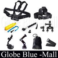 Gopro Hero Accessories Set Helmet Harness Chest Belt Head Mount Strap Go pro hero3 Hero4 2 3+ Sj4000 Black Edition Free Shipping