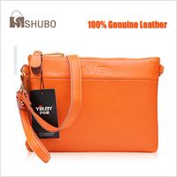 SHUBO New 2015 Fashion Genuine Leather Shoulder Messenger Handbags, Brand Women Crossbody Bags, Clutch Bag, Evening Bag SH162