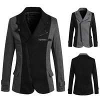2015 Korean stlye zipper high quality  blazers fashion men's suits  Slim Fit jacket for man cheap wholesalePK06