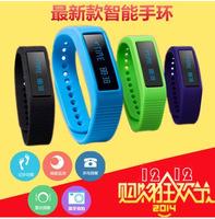 2014 New Intelligent bracelet take step motion meter wrist watch phone calls reminding sleep monitoring